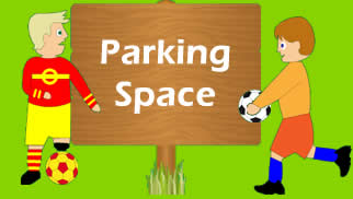 Soccer coordination exercise parking space