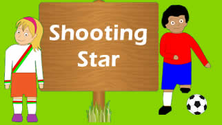 Coordination lesson for kids shooting star