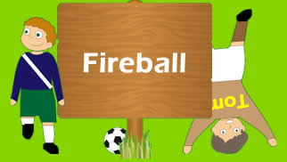 Coordination exercise in soccer with a fireball